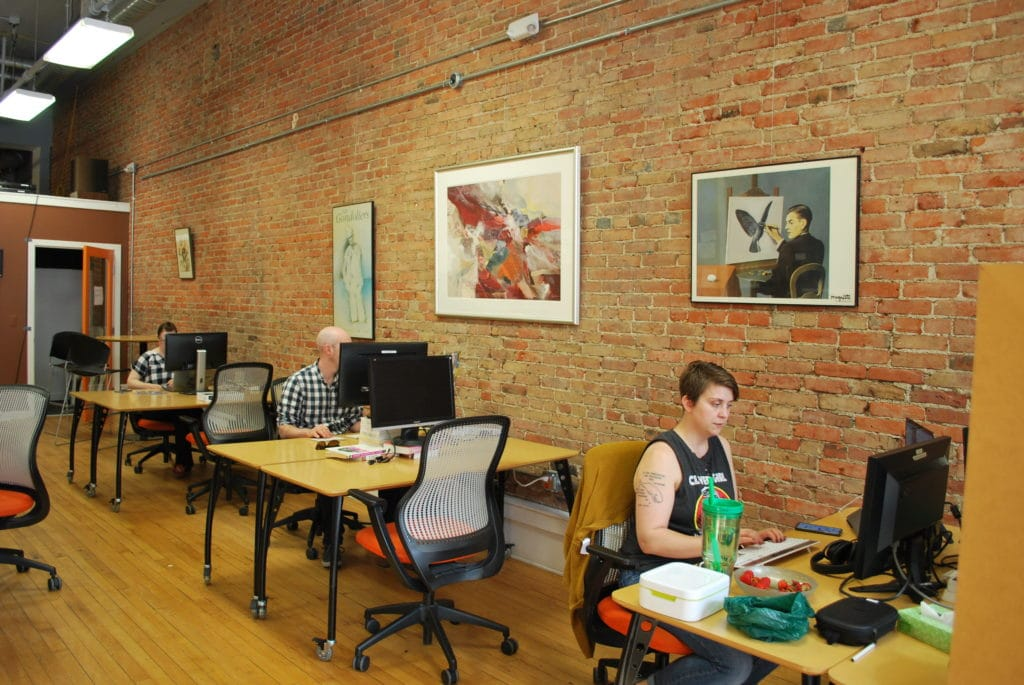 Workantile, co-working Ann Arbor, tech co-working spaces, Main Street Ann Arbor, Tom Brandt, Sarah Zettel