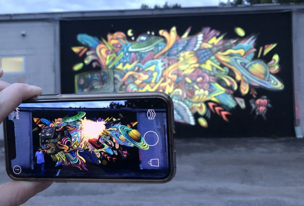 BrandXR, AR VR, augmented reality mural