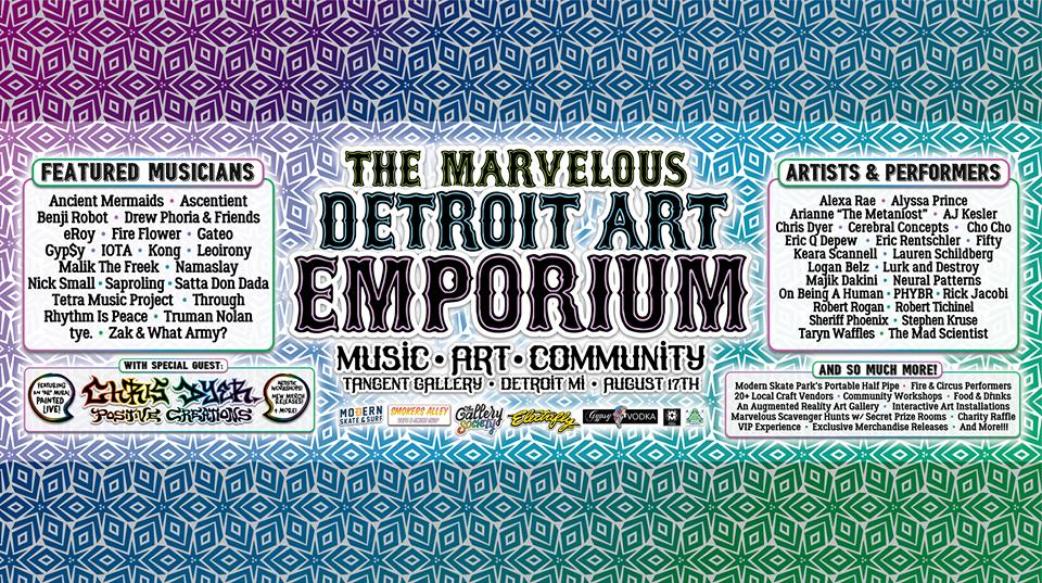 Detroit Art Emporium, BrandXR, augmented reality art, Moody Mattan, Detroit art fair, Detroit music festival