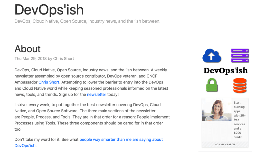 DevOps'ish, DevOps newsletter, Chris Short