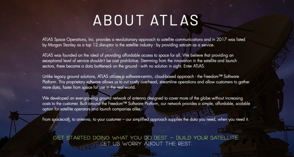 Atlas Space Operations, Michigan tech companies, satcom as a service