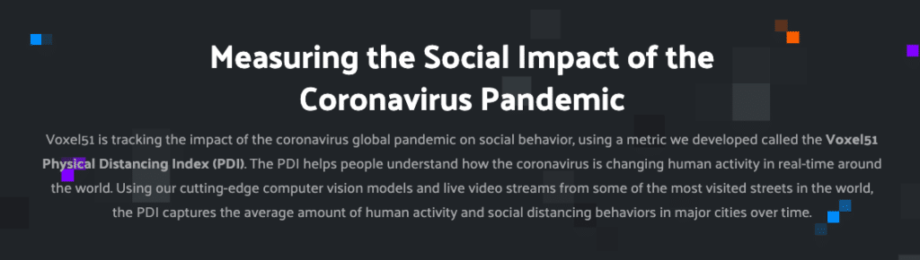 Voxel51, AI, machine learning, video analysis, COVID-19 social distancing trends, coronavirus physical distancing data