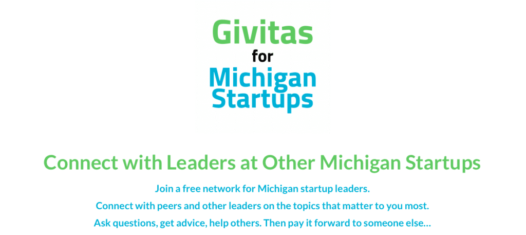 Larry Freed, Givitas, Give and Take, Michigan startup social network, Michigan startup resources, small business resources, startup network Michigan