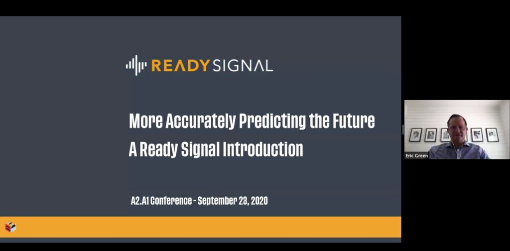 Eric Green, Ready Signal, a2tech360, Applied AI conference