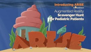 Spellbound AR, AR scavenger hunt game, pediatric distraction tools, patient distraction tech
